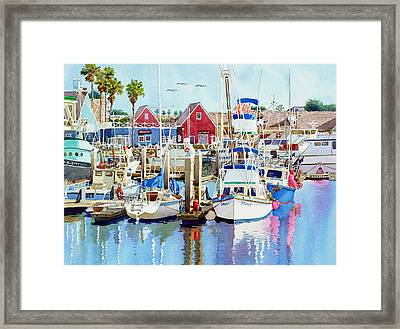 Oceanside California Framed Print by Mary Helmreich