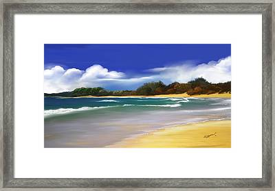 Framed Print featuring the digital art Oceanside Dream by Anthony Fishburne