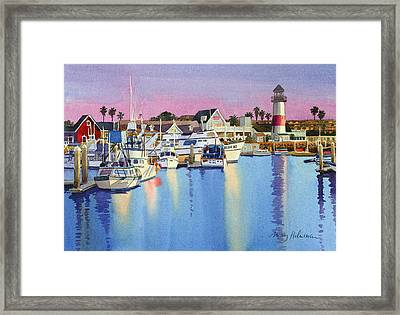 Oceanside Harbor At Dusk Framed Print