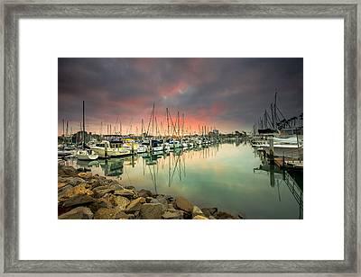 Oceanside Harbor Sunrise Framed Print
