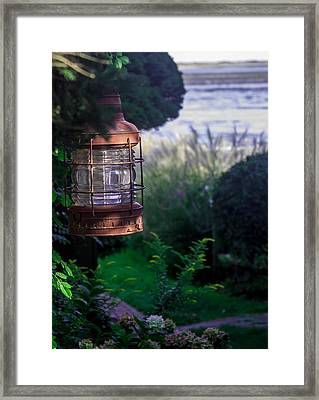 Framed Print featuring the photograph Oceanside Lantern by Patrice Zinck