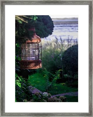 Oceanside Lantern Framed Print