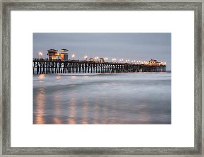 Framed Print featuring the photograph Oceanside Pier 1 by Lee Kirchhevel