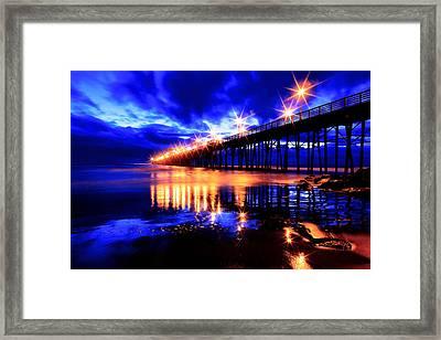 Oceanside Pier 4 Framed Print