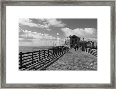 Oceanside Pier Framed Print by Ana V Ramirez