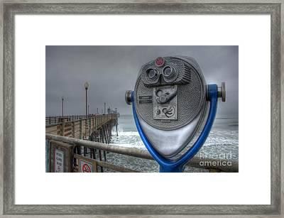 Oceanside Pier California Binocular Vision Framed Print by Bob Christopher