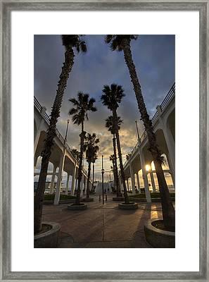 Oceanside Pier Entrance Framed Print by Peter Tellone