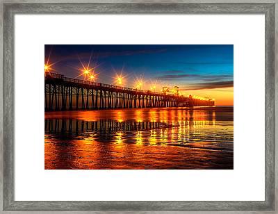 Oceanside Pier 2 Framed Print