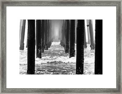 Oceanside Pier In Fog Framed Print