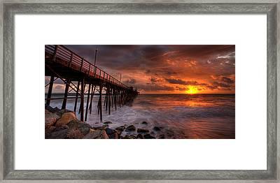 Oceanside Pier Perfect Sunset -ex-lrg Wide Screen Framed Print