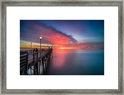 Oceanside Pier Sunset 16 Framed Print