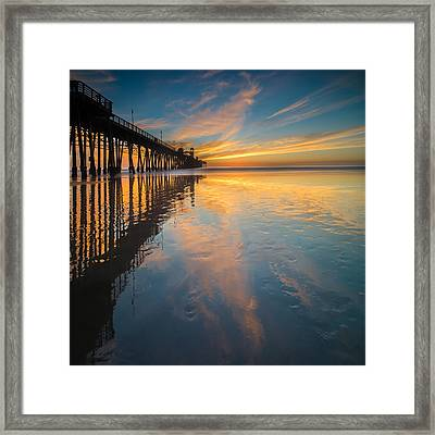 Oceanside Reflections 2 Square Framed Print