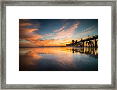 Oceanside Reflections 3 Framed Print by Larry Marshall