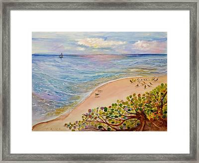 Seaside Grapes Framed Print