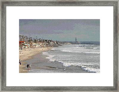 Framed Print featuring the photograph Oceanside South Of Pier by Tom Janca
