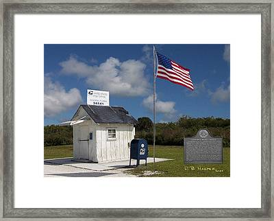 Framed Print featuring the photograph Ochopee Post Office by R B Harper