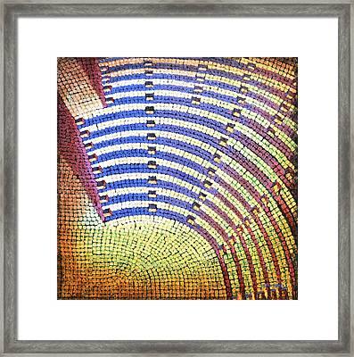Ochre Auditorium Framed Print by Mark Jones