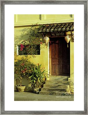 Ochre Wall 01 Framed Print by Rick Piper Photography