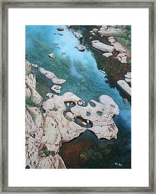 Framed Print featuring the painting Ocoee River Low Tide by Mike Ivey