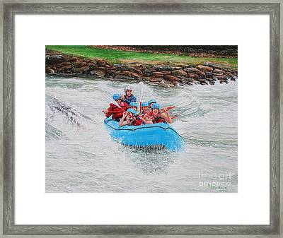 Framed Print featuring the painting Ocoee River Rafting by Mike Ivey