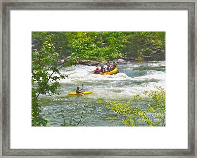 Ocoee White Water Framed Print