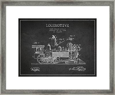Locomotive Patent Drawing From 1894 Framed Print