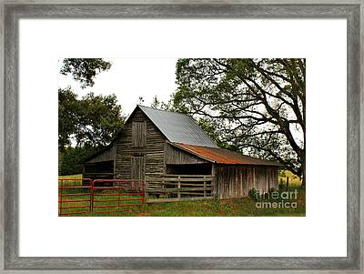 Faithful Oconee County Historic Barn Framed Print