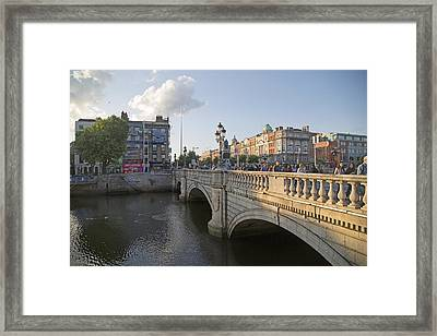 O'connell Bridge Dublin Ireland Framed Print by Betsy Knapp