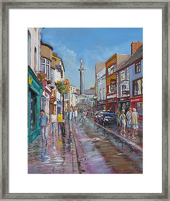 O'connell Street Ennis Co Clare Framed Print by Tomas OMaoldomhnaigh