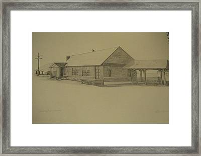 Oconto Depot Northern Exposure Framed Print by Kathleen Barlament