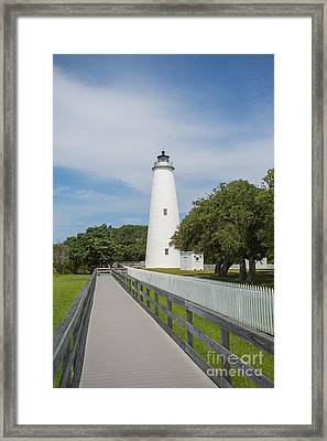 Ocracoke Lighthouse Framed Print by Kay Pickens