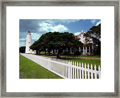 Framed Print featuring the photograph Ocracoke Lighthouse by Tom Brickhouse