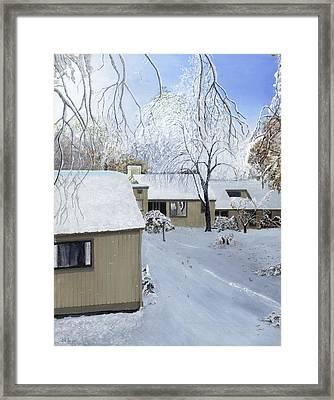 Oct Snow Storm Framed Print by Stuart B Yaeger