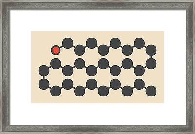 Octacosanol Plant Wax Component Molecule Framed Print
