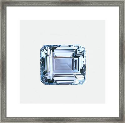 Octagonal Step-cut Topaz Framed Print