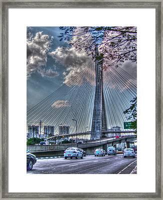 Framed Print featuring the photograph Octavio Frias De Oliveira Bridge by Ross Henton