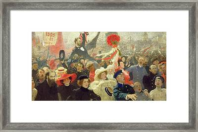 October 17th 1905 Framed Print by Ilya Efimovich Repin