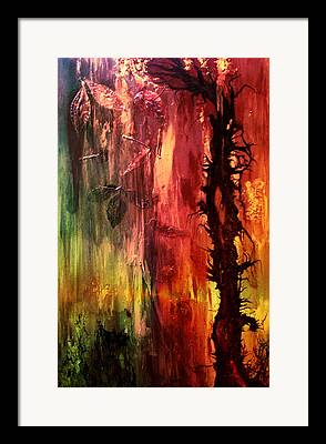 Hidden Angels. Abstract Digital Art Framed Prints