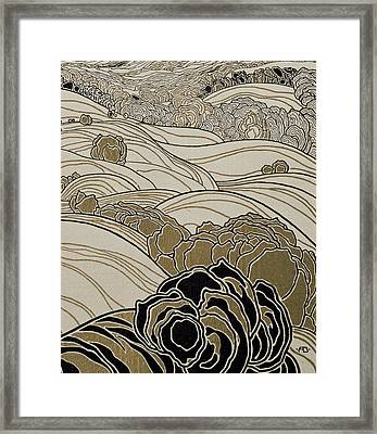 October Framed Print by Adolf Bohm