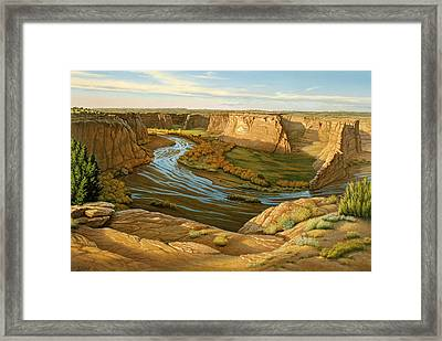 October Afternoon- Canyon Dechelly Framed Print by Paul Krapf