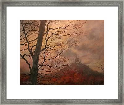 October At Holy Hill Framed Print by Tom Shropshire