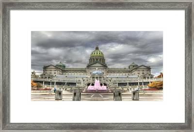October At The Capitol Framed Print by Lori Deiter