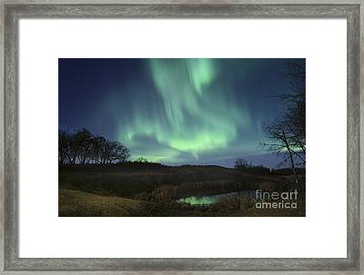 October Aurora Framed Print