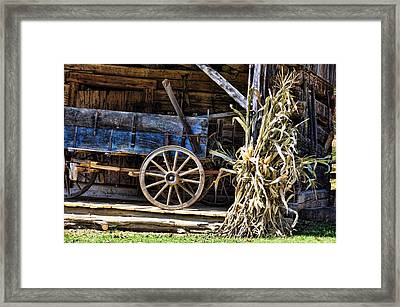 October Barn Framed Print by Jan Amiss Photography