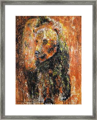 Abstract Bear Painting October Bear Framed Print