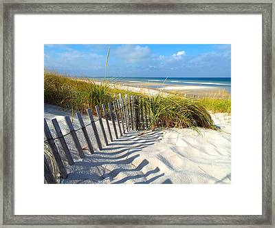 Framed Print featuring the photograph October Beach by Dianne Cowen