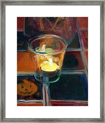 October Candlelight Framed Print