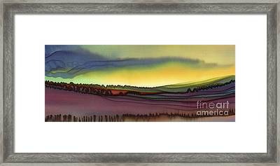 October Fields Framed Print