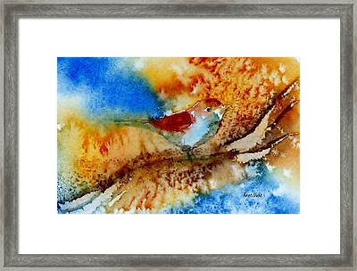 Framed Print featuring the painting October Fifth by Anne Duke