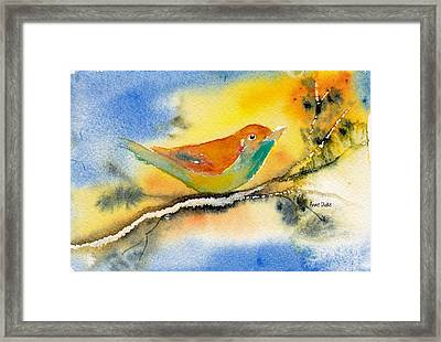 Framed Print featuring the painting October Fourth by Anne Duke